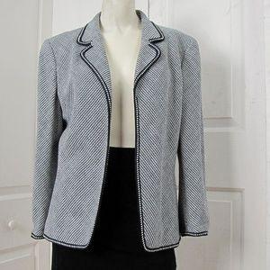 Anne Klein New York Herringbone Blazer Size 10